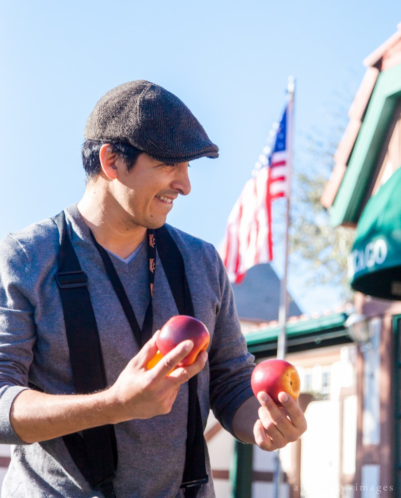 Man with fruit