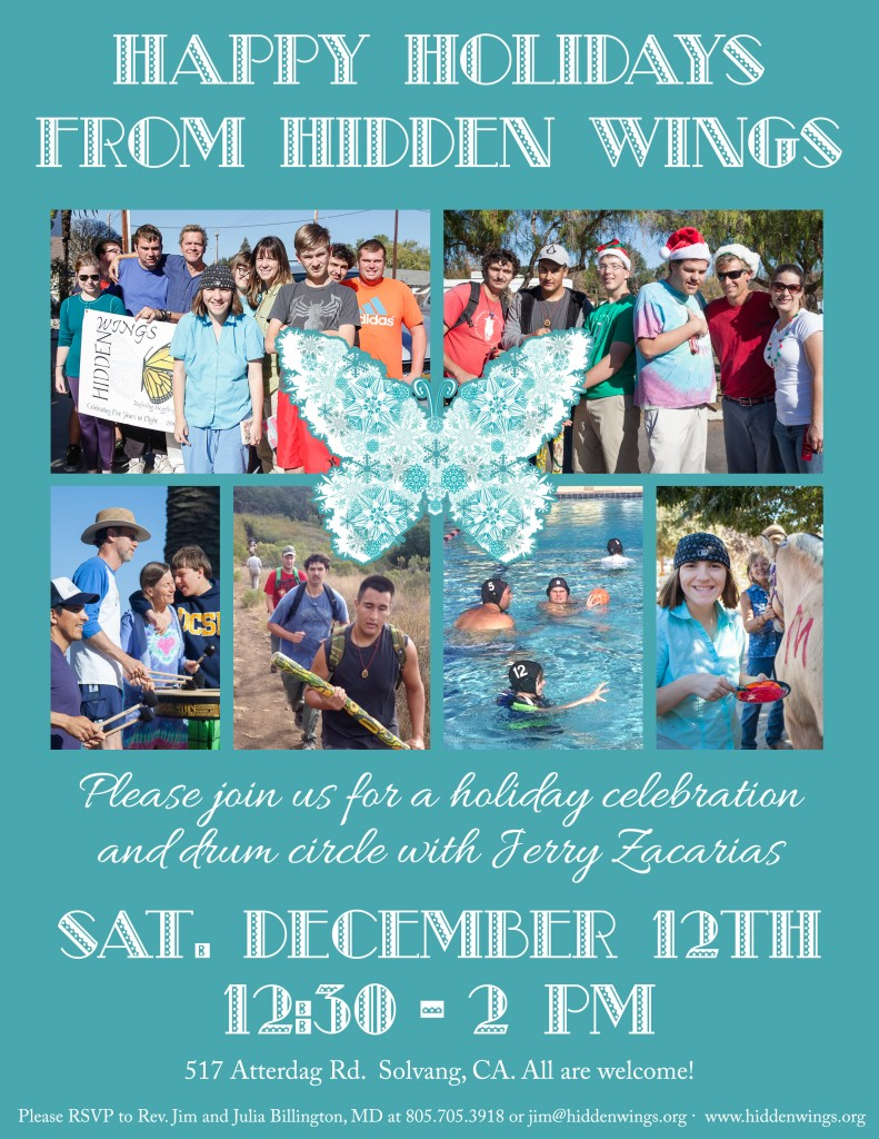 Hidden Wings Christmas Party Invite 2015