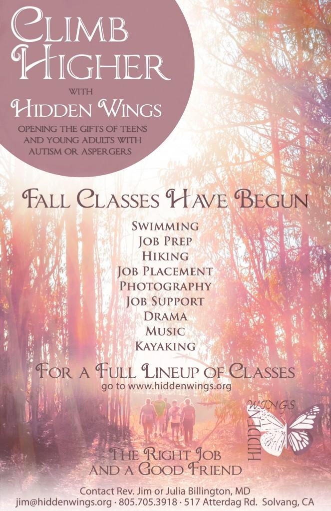 Hidden Wings Fall Schedule 2015 darker